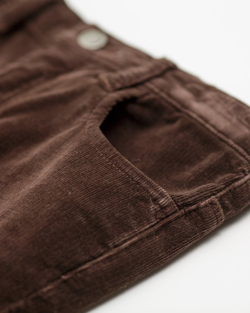 Arsène et les Pipelettes pants velours brown