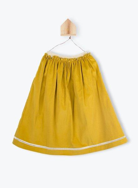 Arsène et les Pipelettes Long skirt  ocre