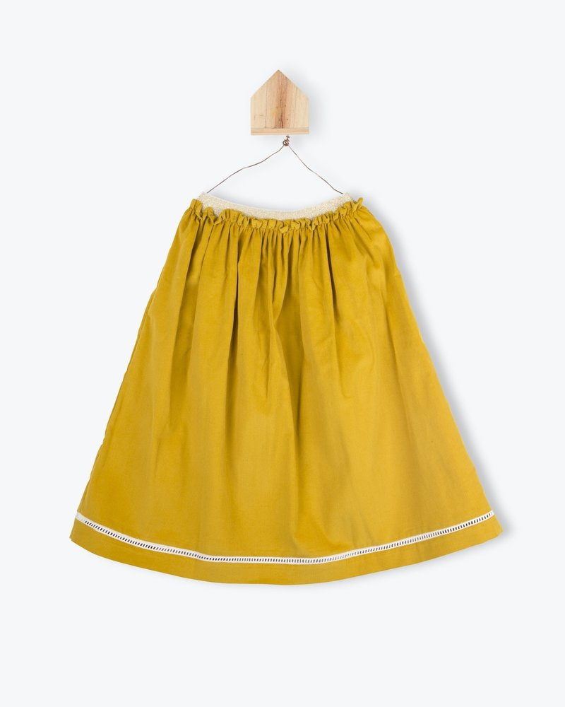 Arsène et les Pipelettes Skirt midi ocre