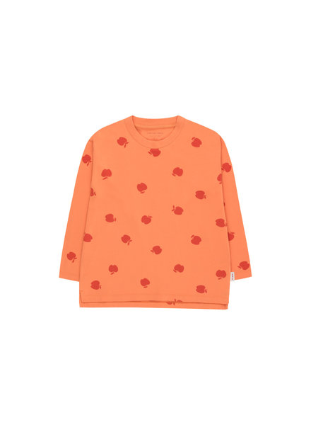 Tiny Cottons T-shirt APPLES LS Tee coral / burgundy