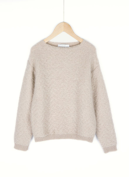 BY-BAR BY-BAR trui VENICE solid pullover 015 - stone