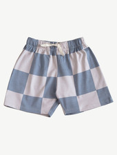 Main Story Baggy Shorts Hush Violet - Check