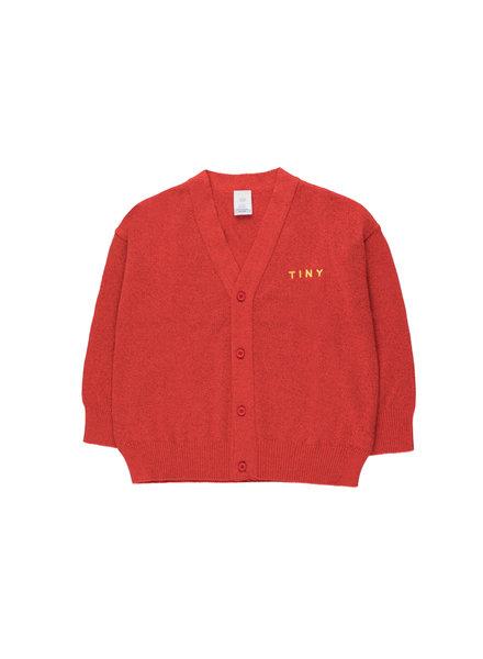 Tiny Cottons cardigan Shiny Cardigan red