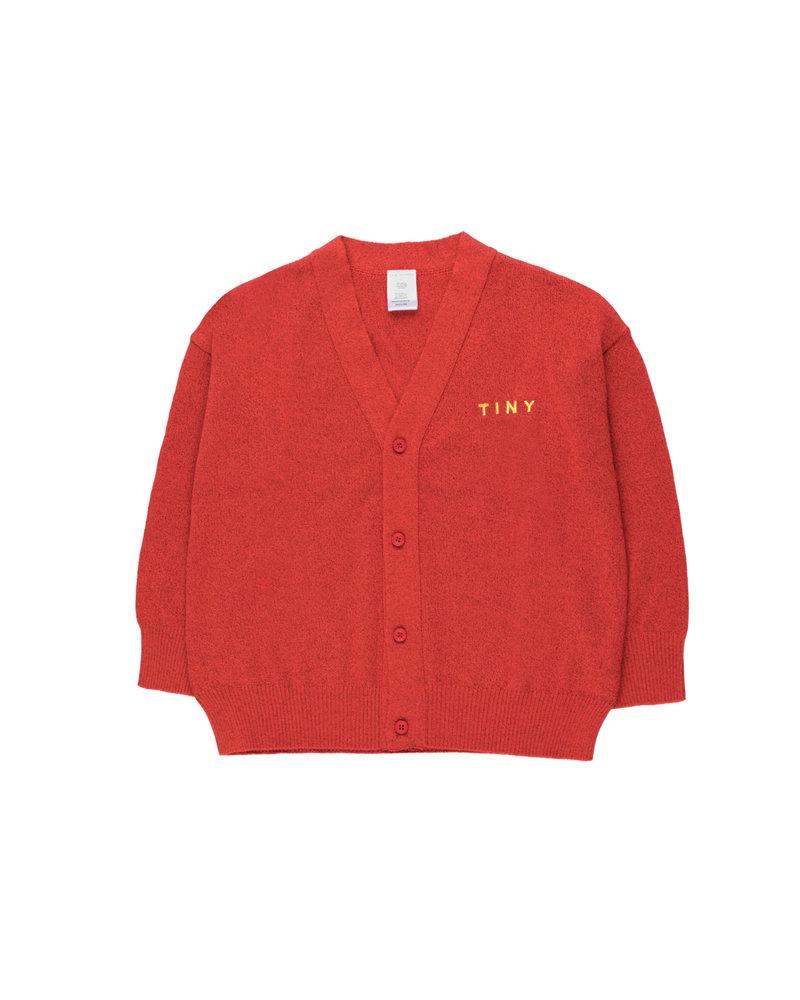 Tinycottons Tinycottons cardigan Shiny Cardigan red