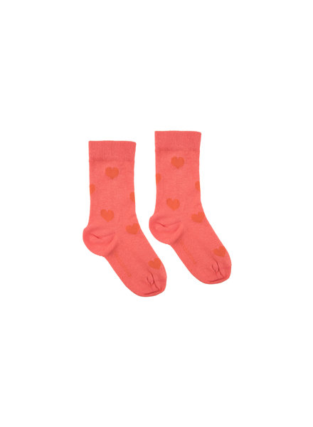 Tiny Cottons Tinycottons kousen Hearts Medium Socks light red / red