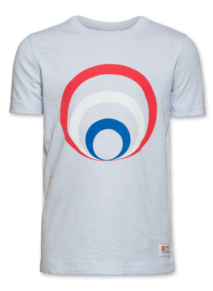 AO76 AO76 T-shirt c-neck circle light blue