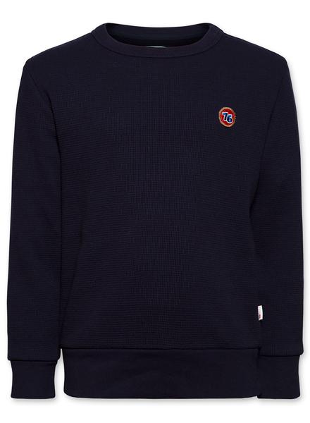 AO76 Sweater c-neck waffle dark navy