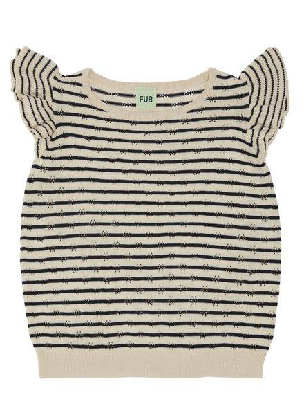 FUB T-shirt stripes ecru / navy