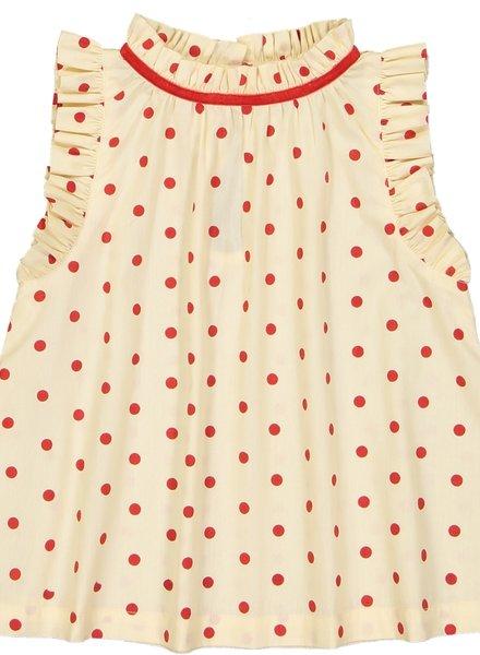 Hello Simone Misha Blouse Dots Red
