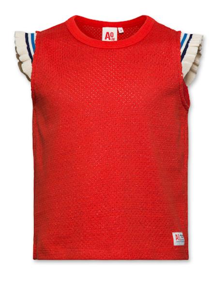 AO76 AO76 T-shirt jacquard t-shirt c-neck red