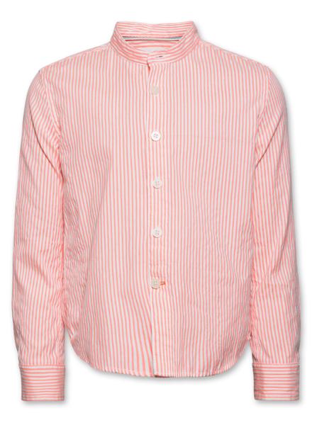 AO76 AO76 hemd fluo striped mao fluo orange
