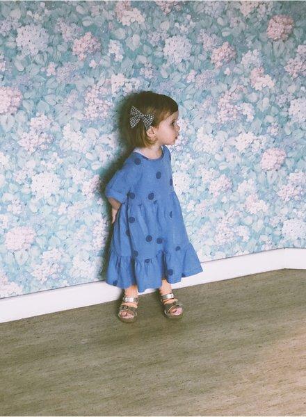 Tiny Cottons Robe  Sun Belled Dress cerulean blue / summer navy