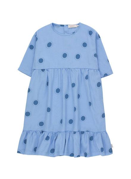 Tiny Cottons Sun Belled Dress cerulean blue / summer navy