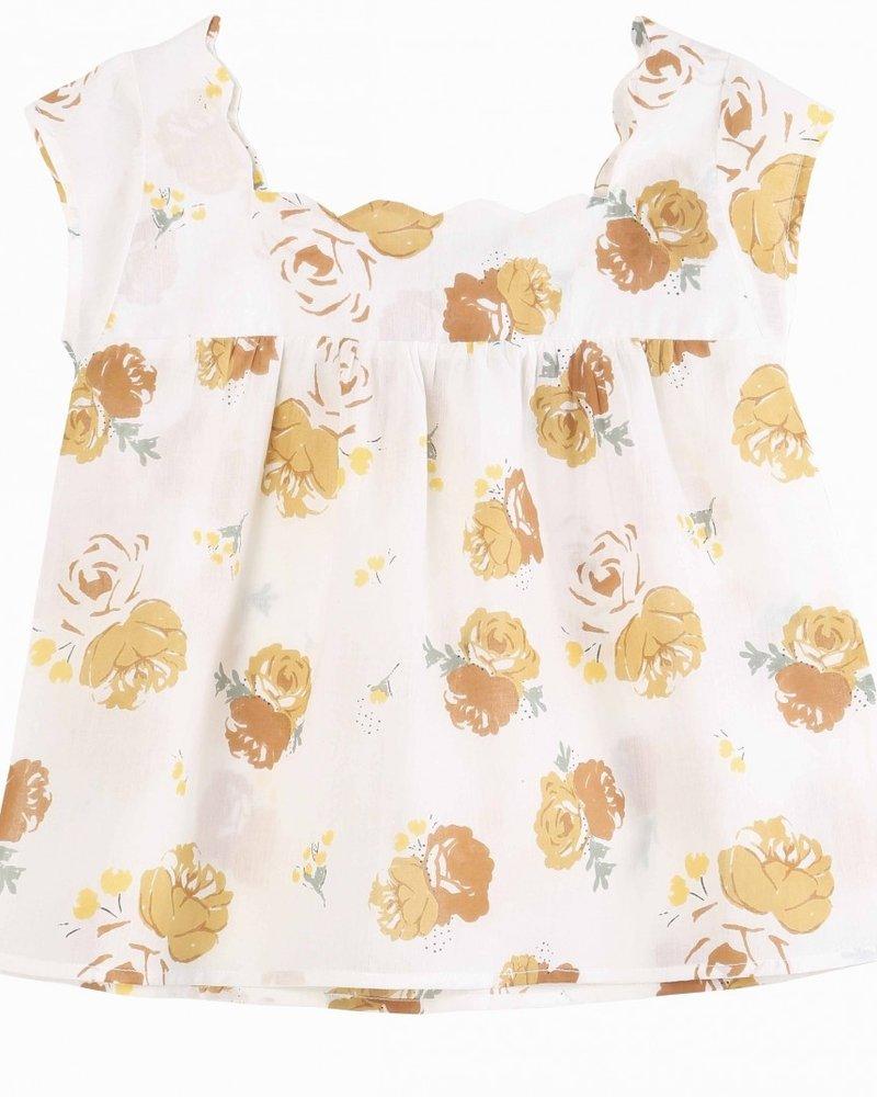 Emile et Ida Emile et Ida hemd Bouquet jaune Blouse Q032