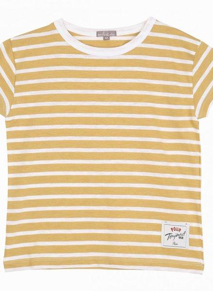 Emile et Ida T-shirt yellow stripes