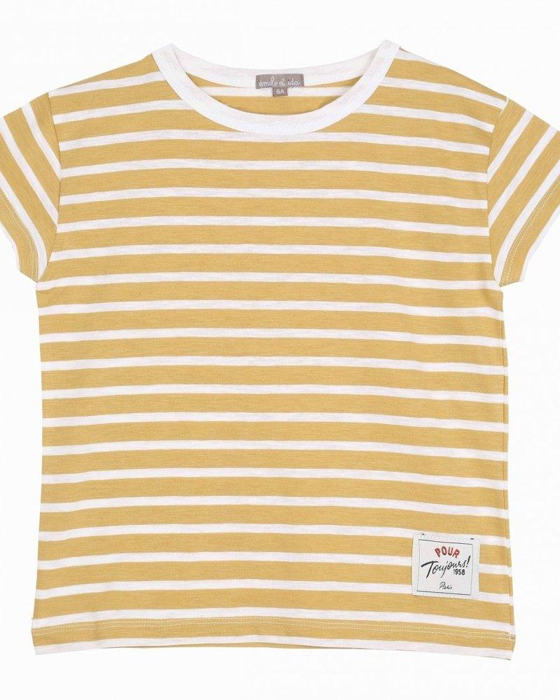 Emile et Ida Emile et Ida T-shirt Jaune Tee shirt Q145