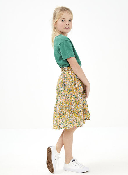 BY-BAR Lien paisley skirt straw