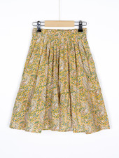 BY-BAR Lien paisley skirt straw