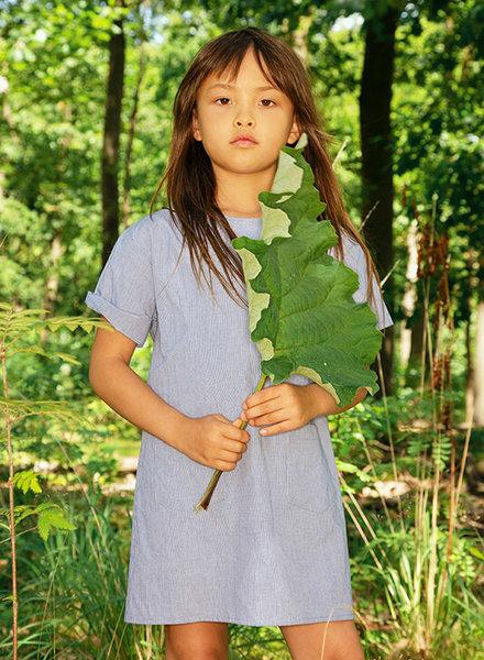 Maan MAAN jurk LIME woven dress blue