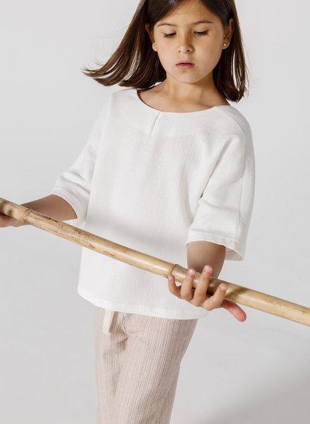 Annice Hemd Kimono blouse white double gauze