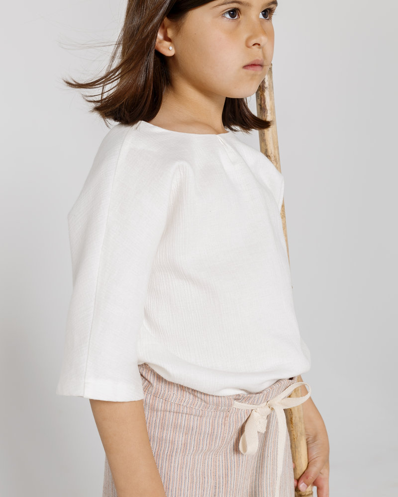 Annice ANNICE hemd Kimono blouse white double gauze
