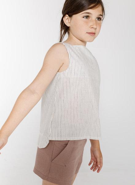 Annice Boat-neck blouse stripes dark blue & white