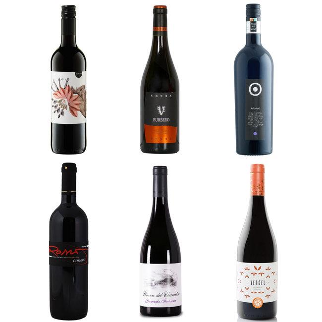Zugängliche Weinkiste Rot