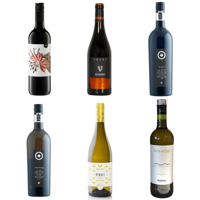 Zugängliche Weinkiste Rot&Weiss