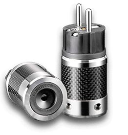 Furutech FI-E50(Rhodium) Shielded Schuko Plug