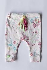 Baggy meisjesbroekje roze met bloemen motief