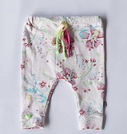 Broek - Drop crotch - Roze - Powder Flower