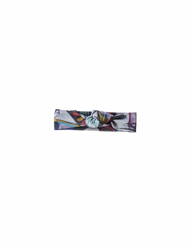 Haarband knoop met kleurrijke Picasso print