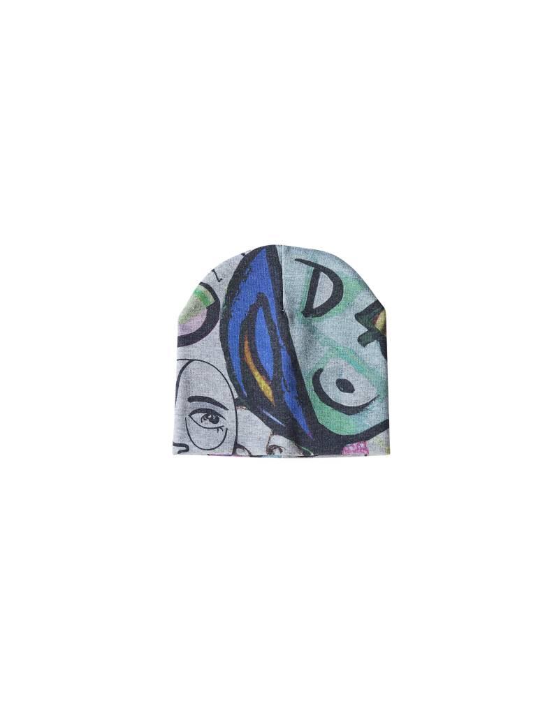 Newborn mutsje met kunstzinnige Picasso print