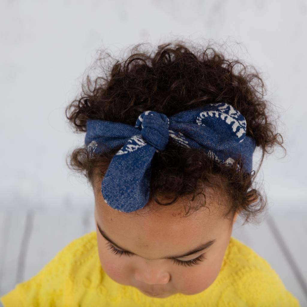 Haarband om zelf te strikken met tijgerprint