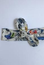 Haarband om zelf te strikken met Delfts Blauw dessin