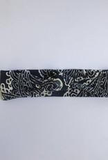 Haarband met knoop en indigo paisley print