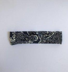 Batik Blue / haarband knoop