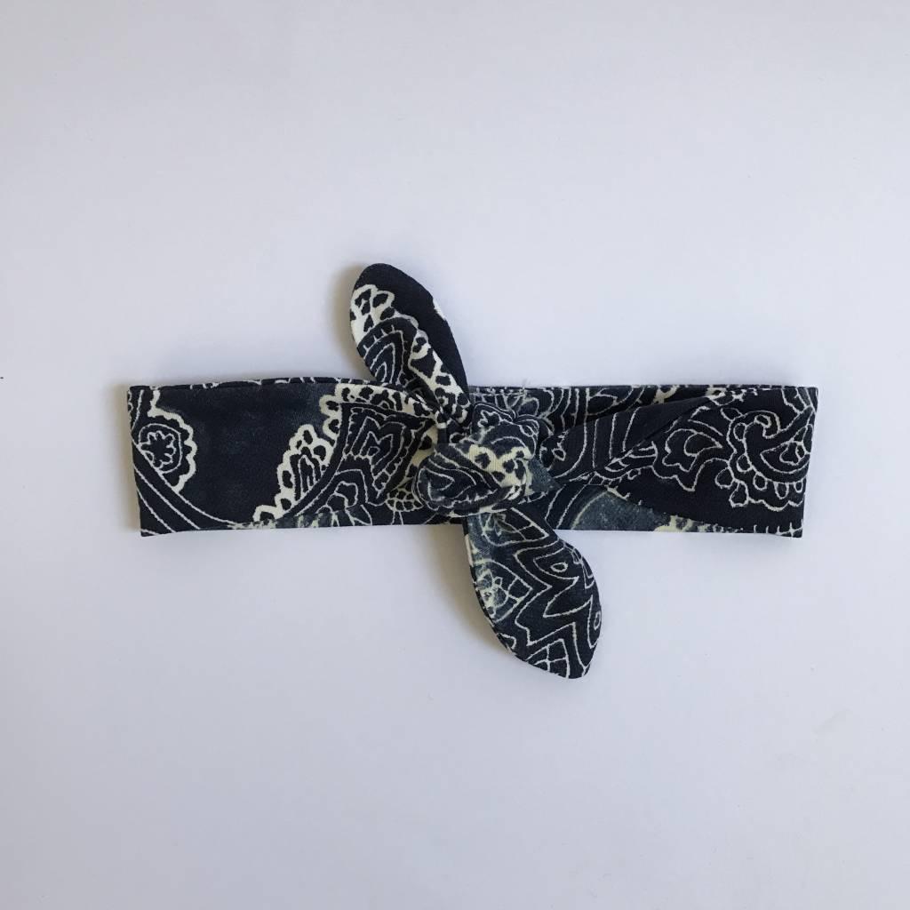 Haarband om zelf te strikken, met paisley print