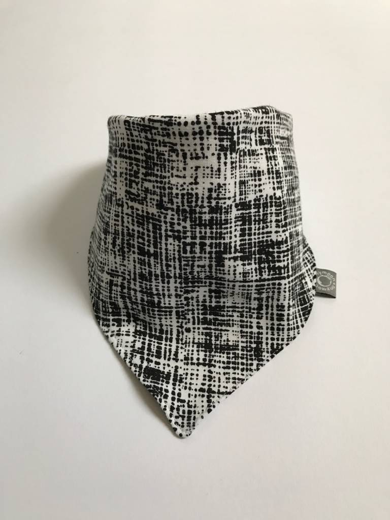 Slab bandana zwartwit gestreept