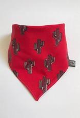 Rode slab bandana sjaal met cactussen