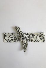 Haarband om zelf te strikken met konijnen print