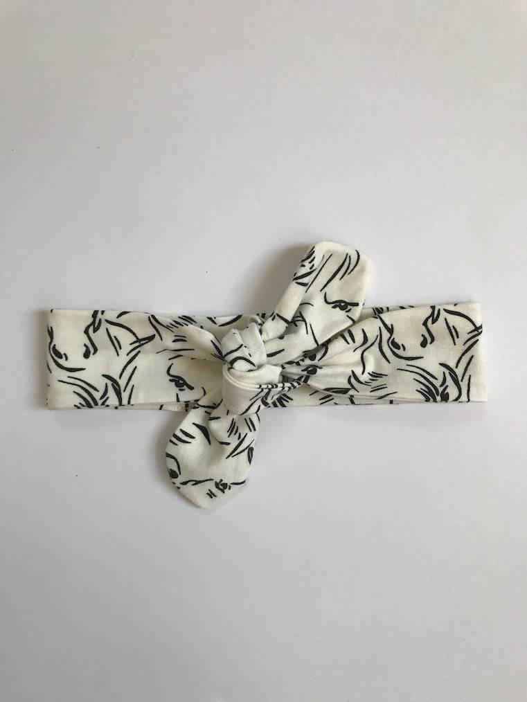 Haarband om zelf te strikken met paarden print