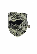 Baby slab bandana met zwart-witte Japanse print