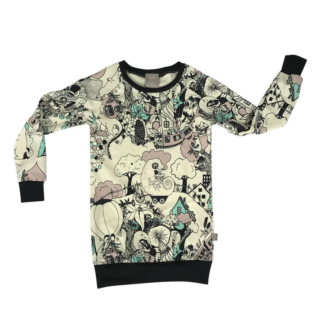 Sweater Dress voor meisjes met sprookjesachtige print