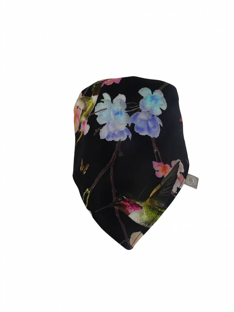 Slab bandana met oosterse bloemenprint