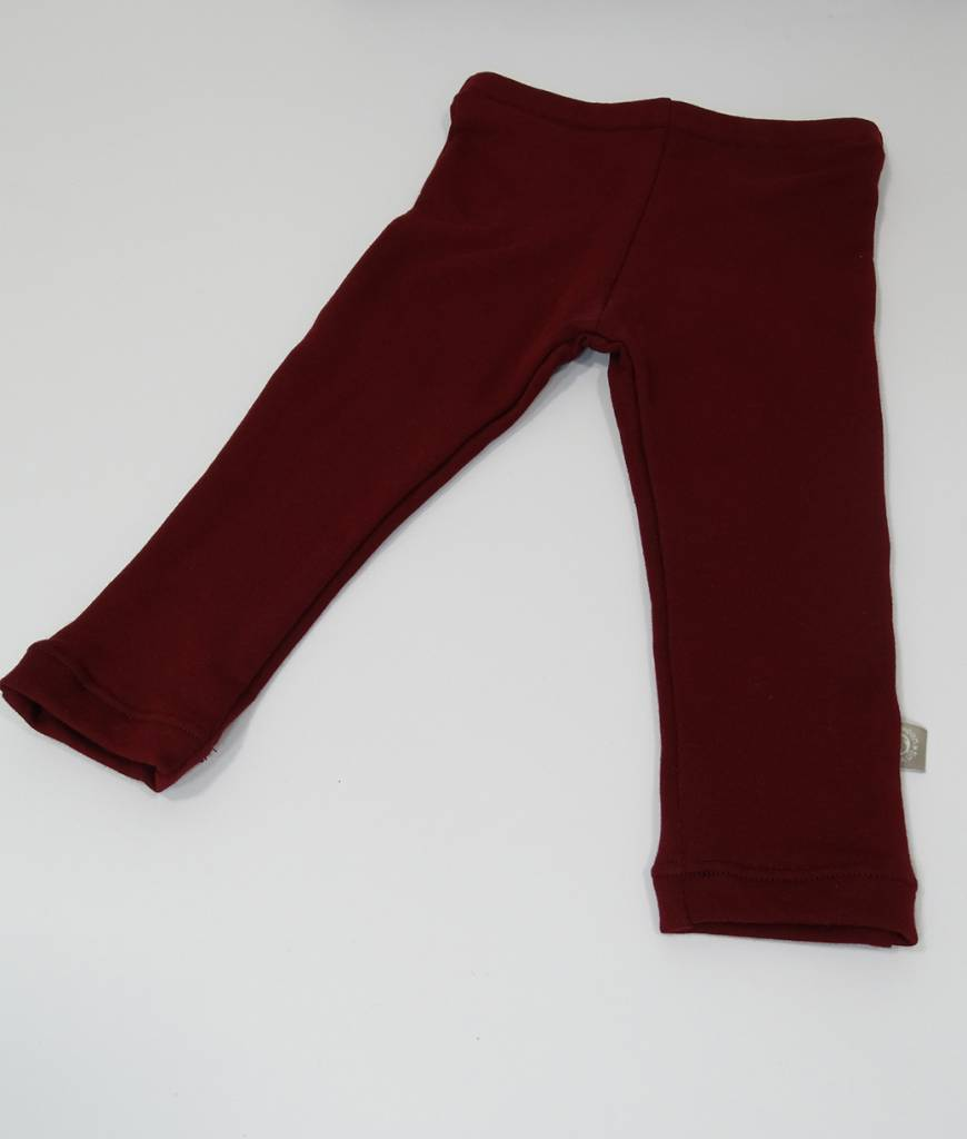 Joggingstof legging in bordeaux