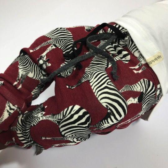 tinymoon  Zippy Zebra bordeaux   / drop crotch