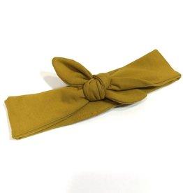 Basic Ocre  / haarband strik