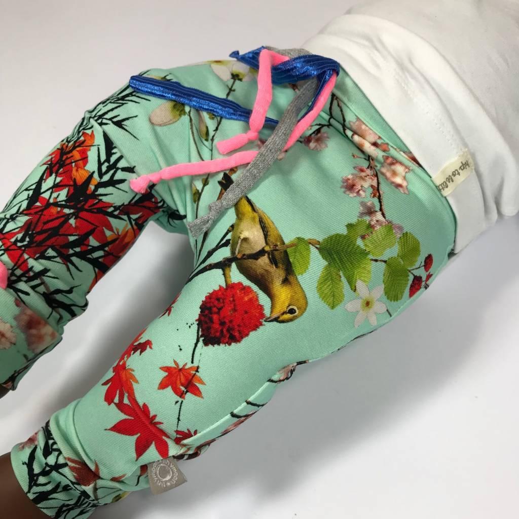 Baggy broekje voor meisjes met Japanse print