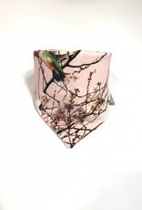 Roze slab bandana met oosters bloemenmotief
